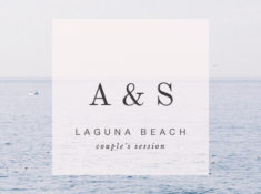 laguna beach couples session