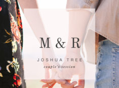 boho joshua tree engagement session