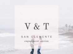 cloudy day engagement in san clemente