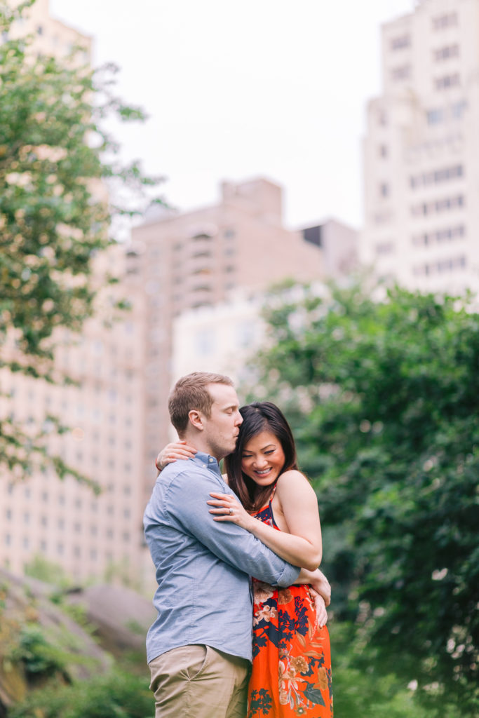 couple central park engagement