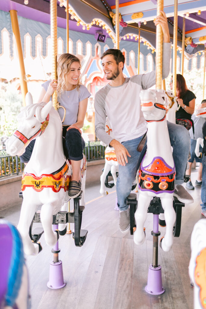 disneyland carousel engagement