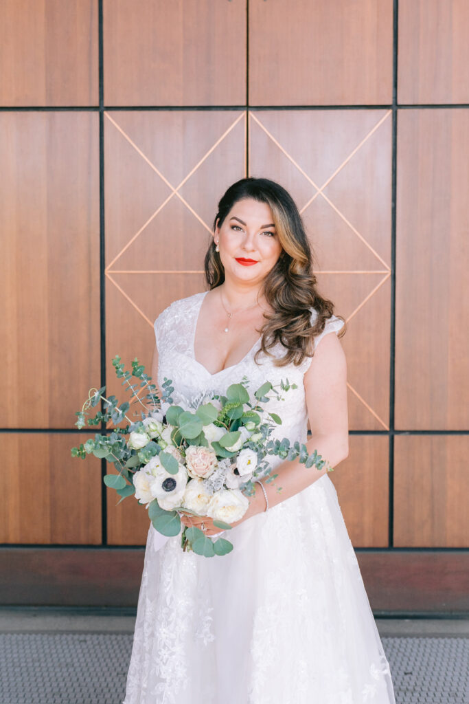 bride bouquet portrait