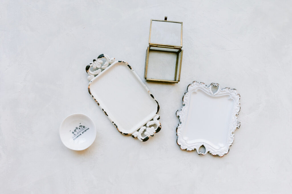 ring dishes and trays
