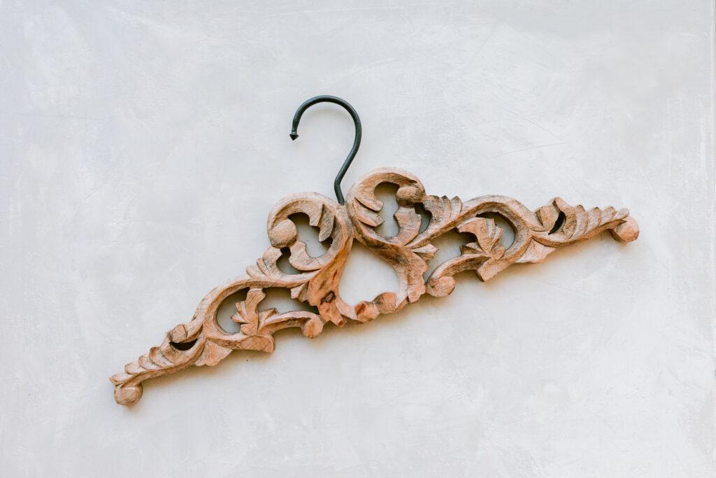wooden hanger for wedding styling kit
