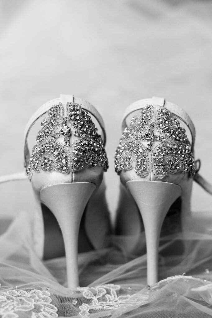vintage glam wedding shoes