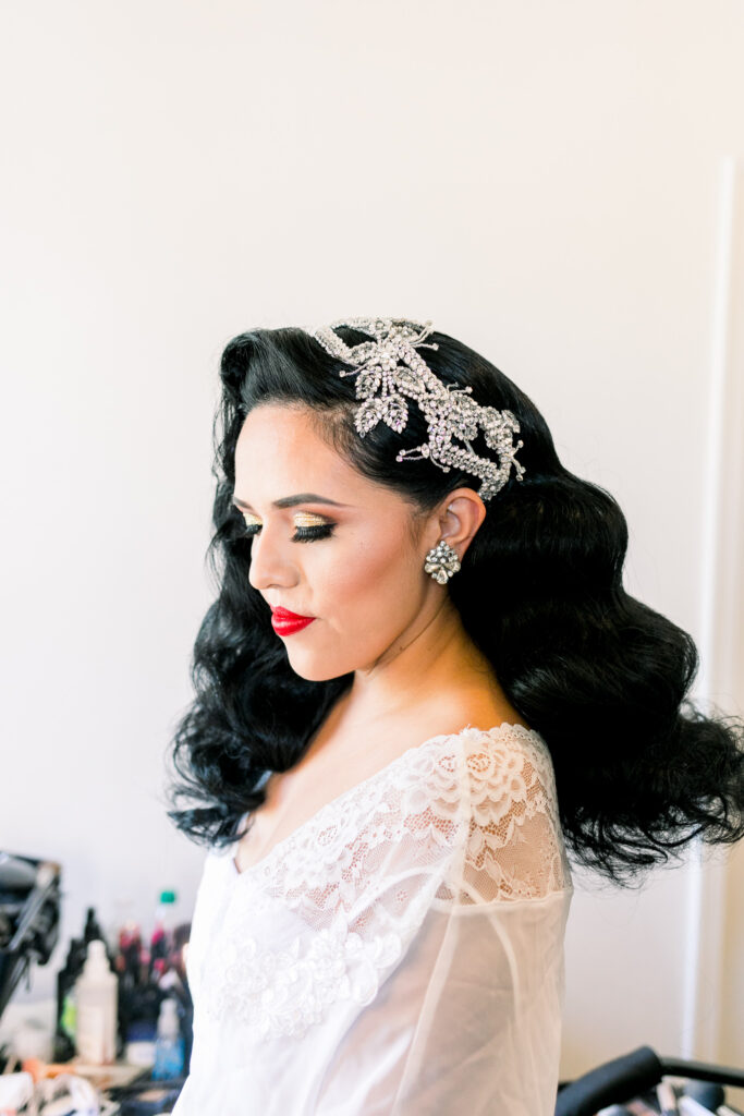 vintage glam makeup and hair