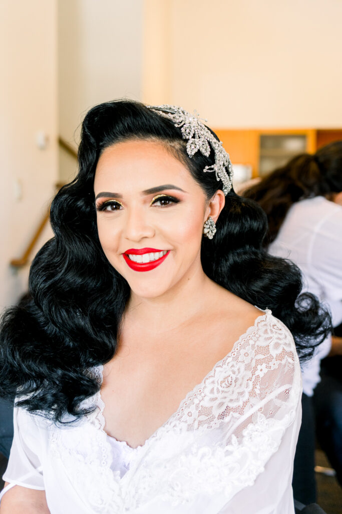 vintage glam wedding hair and makeup
