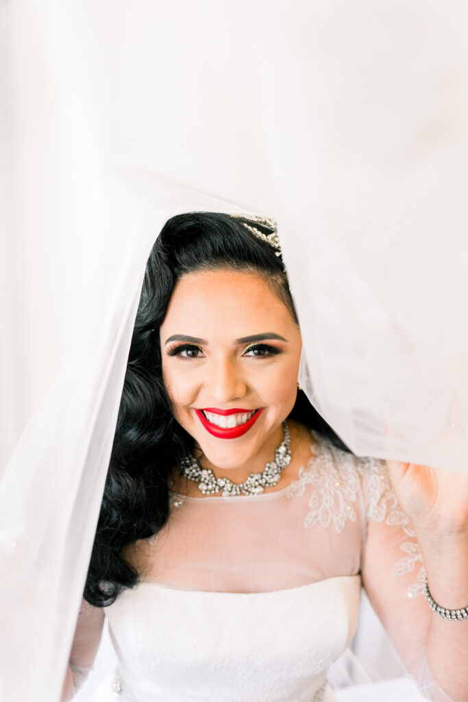 vintage glam wedding bridal portraits