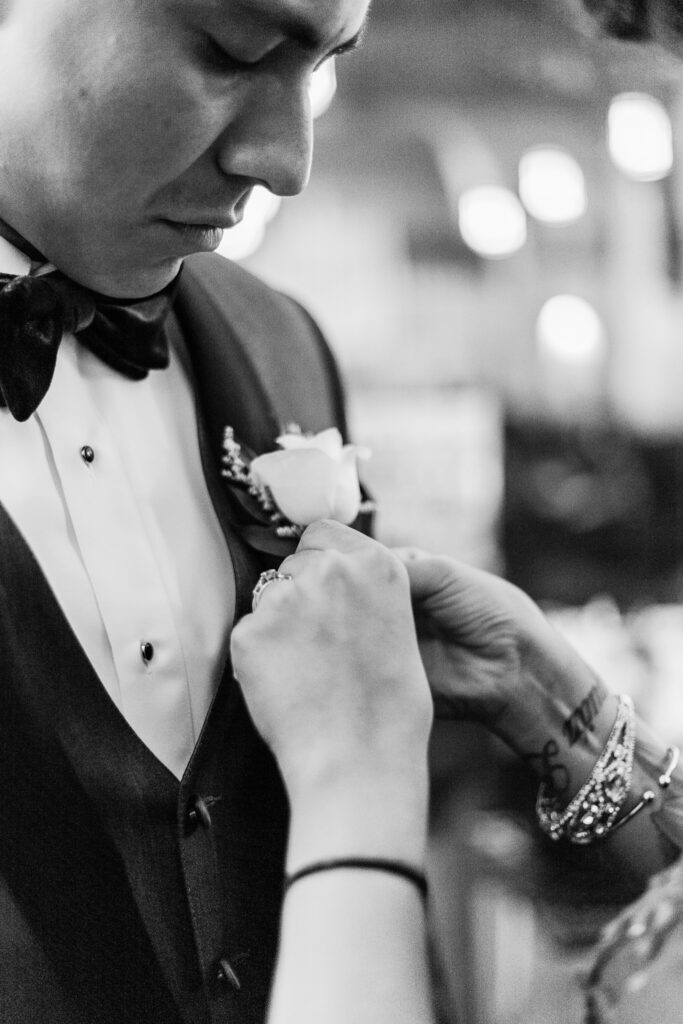 church wedding boutonniere
