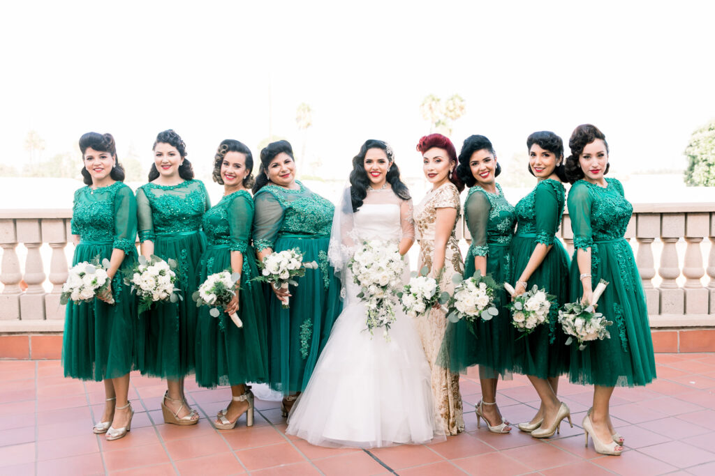 vintage wedding bridal squad