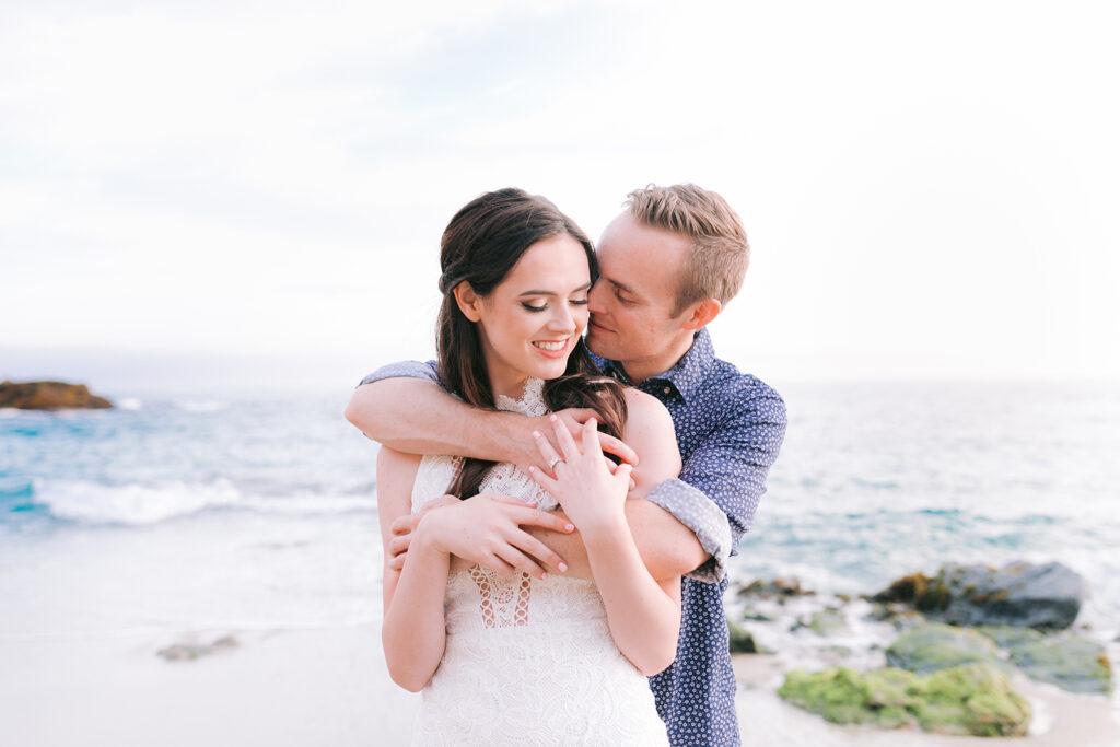 laguna beach engagement couple