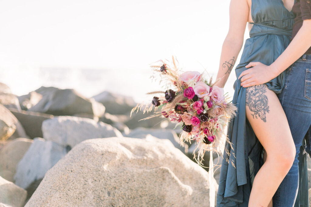 steamy beach engagement del mar lgbt