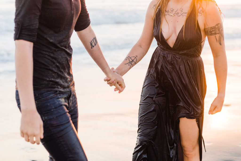 steamy beach engagement