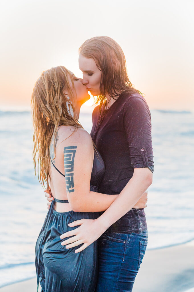 del mar beach lgbt couple steamy engagement