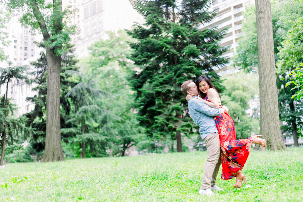central park new york city engagement session