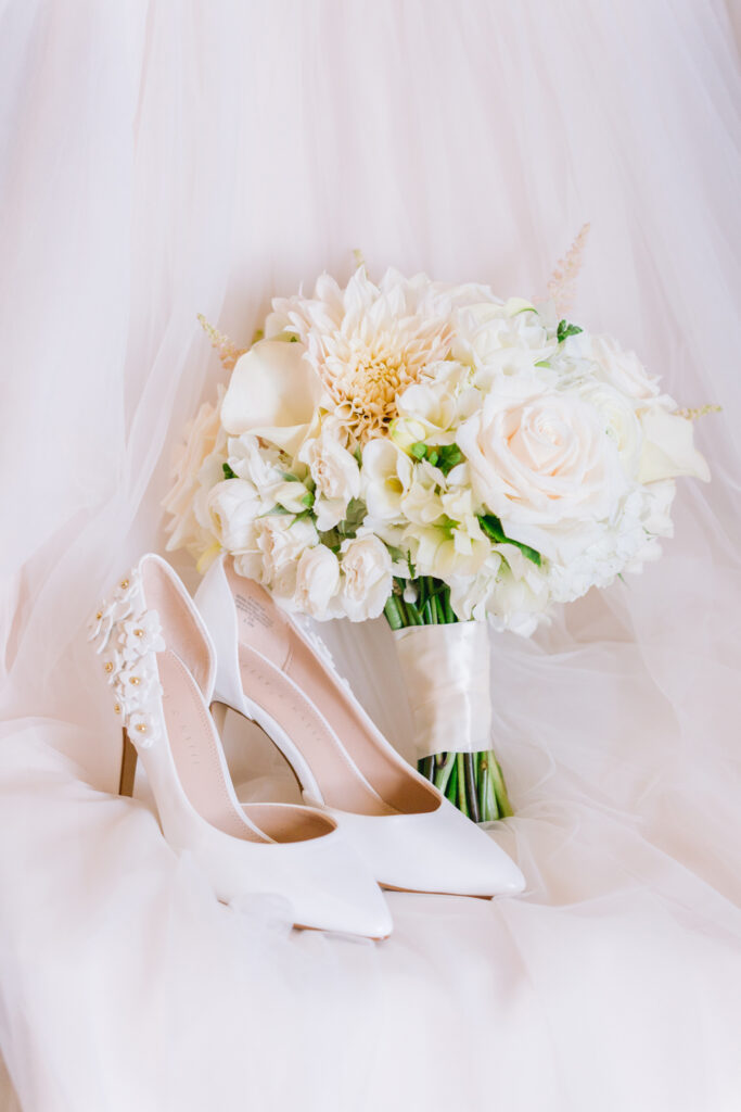wedding bouquet shoes