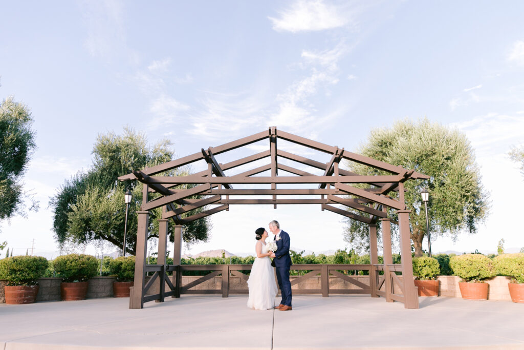 romantic vineyard wedding wiens arbor gazebo temecula