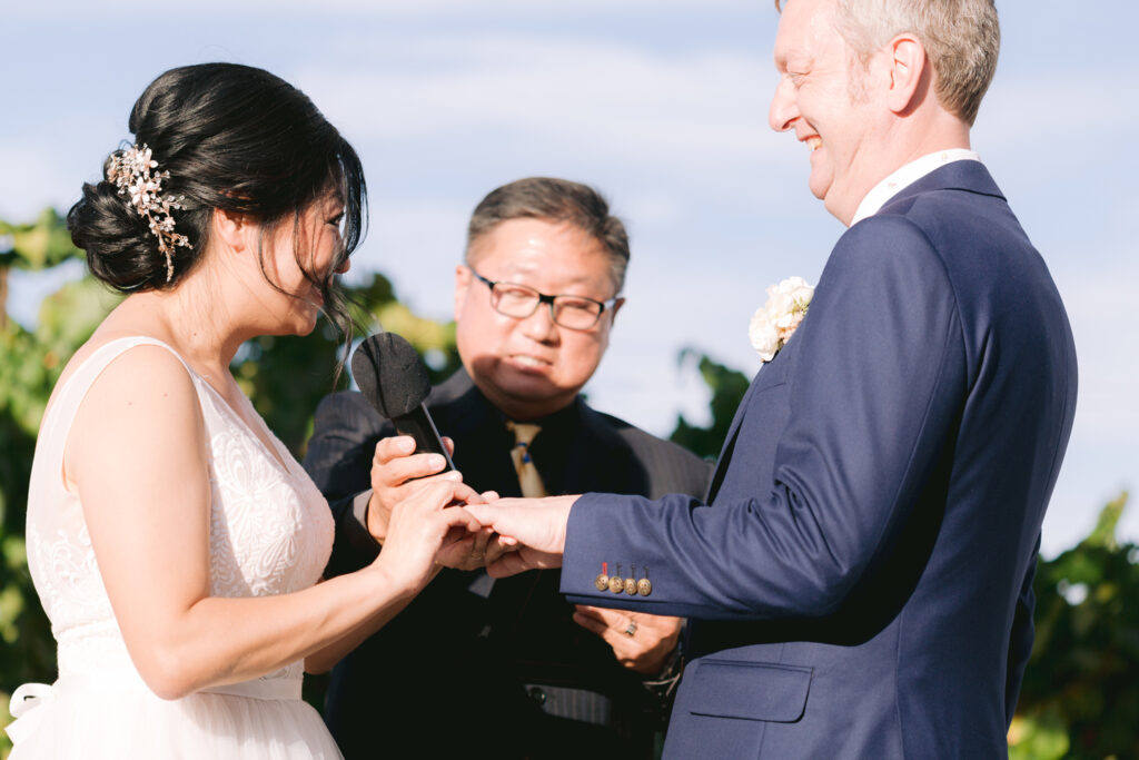 wiens winery wedding ceremony