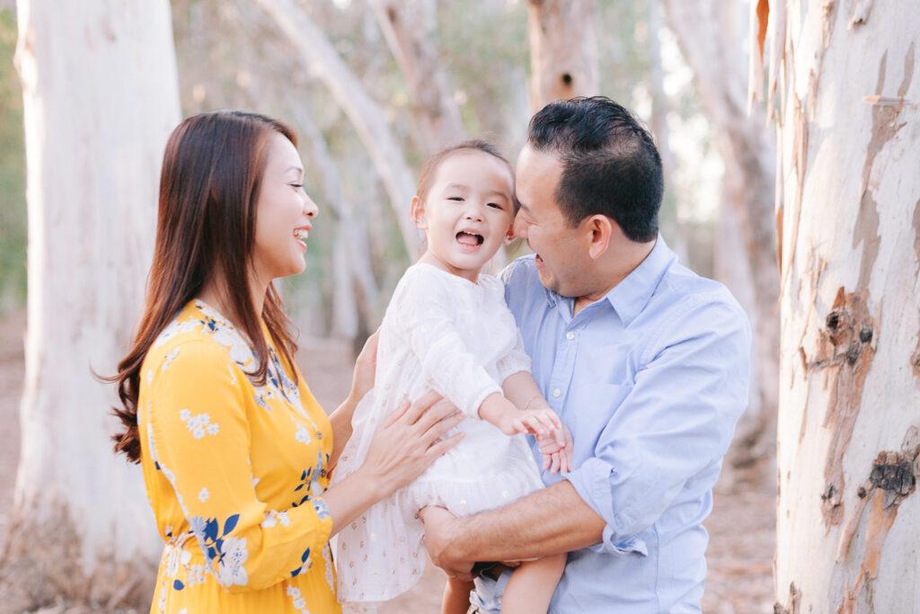 family holiday mini session eucalyptus tree
