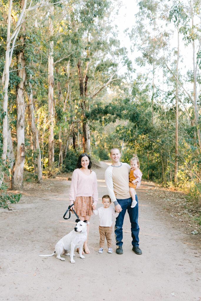 family holiday mini session eucalyptus tree maternity